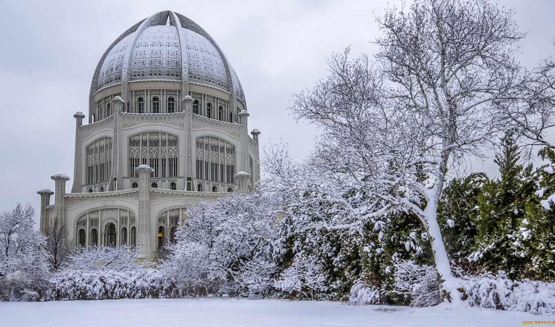 building, winter, house, город, снег, build