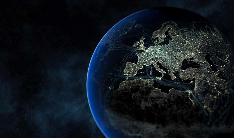земля, space, антропосфера, коммуникации, дороги, люди, картинка, себя, найди, night, планете,