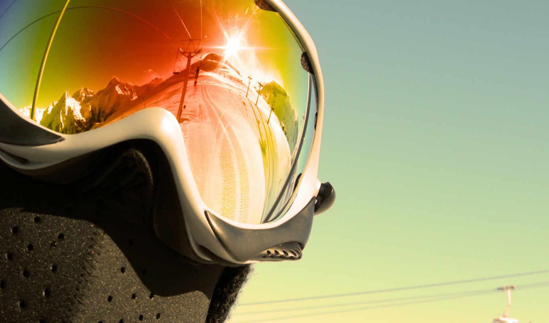маска, сноуборд, очки, любим, другом, разрешением,