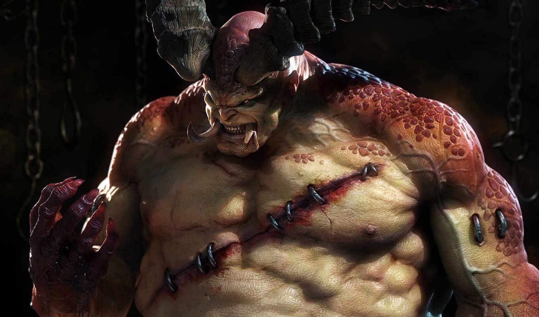 diablo, мясник, iii, boss, monster, кровь, акта, первого, игре,