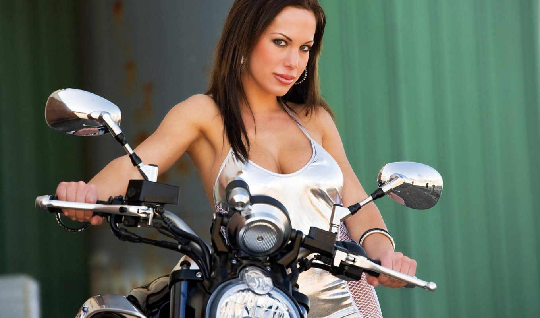 devushki, мотоциклах, девушек, шлема,