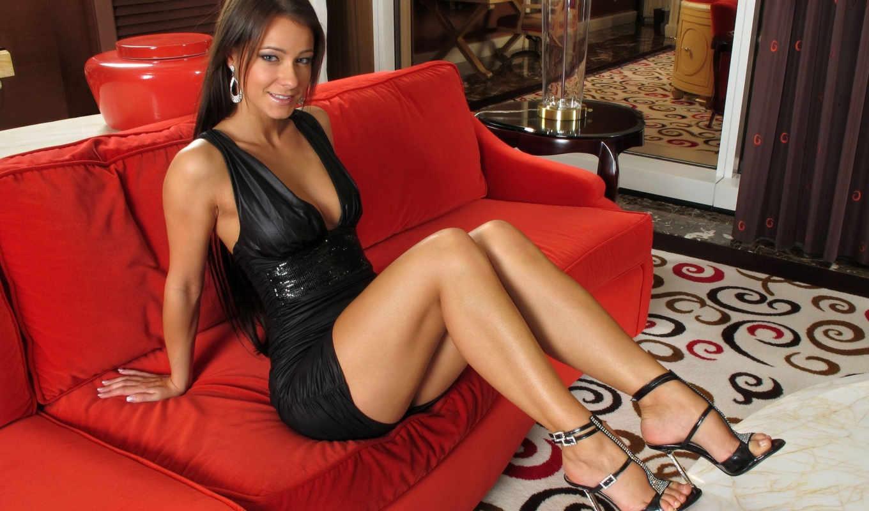 melisa, красный, mendiny, диван, девушка, платье, awaisagha,