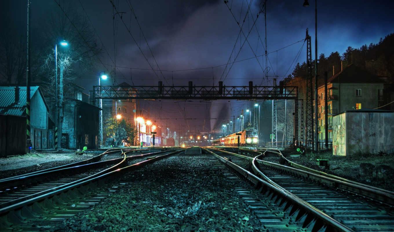 поезд, images, вокзал, поезд, рельсы, марта, noch,