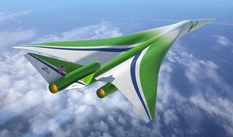 будущего, самолеты, nasa, сверхзвуковых, самолетов, будут, форма, пассажирских, concept,