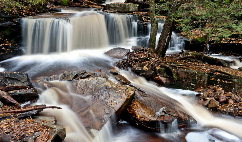 park, state, glen, ricketts, водопады, природа, pennsylvania,