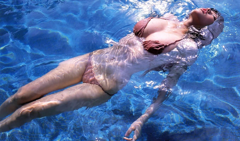 ,вода,бассейн,азиатка,девушка,купальник,
