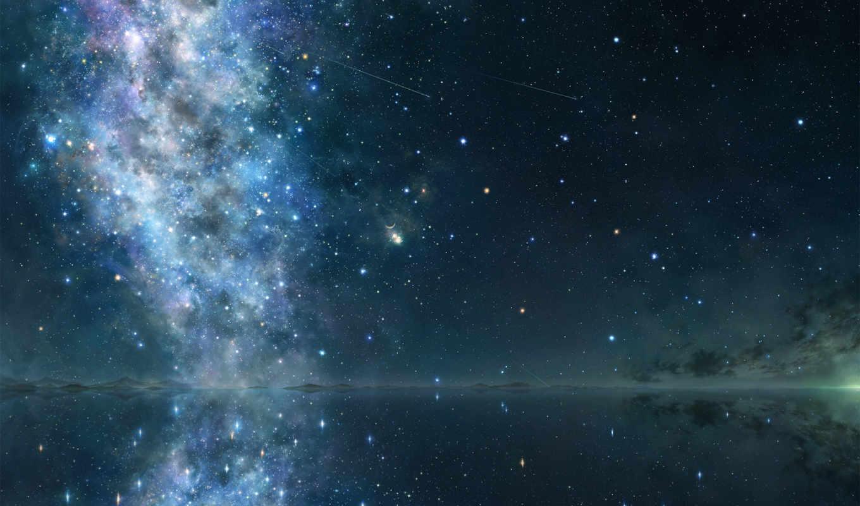 небо, cosmos, звезды, звездное, картинка, ночь, природа, горы,