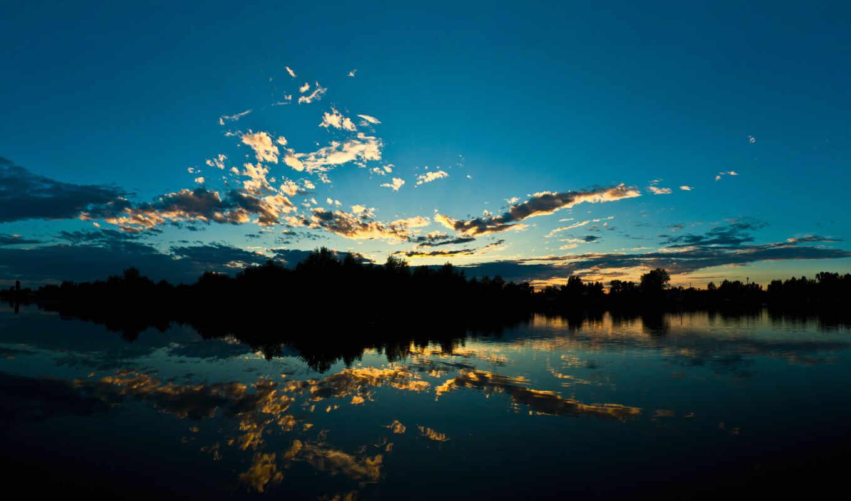 пейзажи -, со, красивые, тёмные, dark, разных, oblaka, озером,