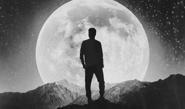 луна человек фото картинка для