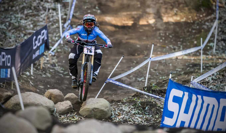 bike, downhill, гора