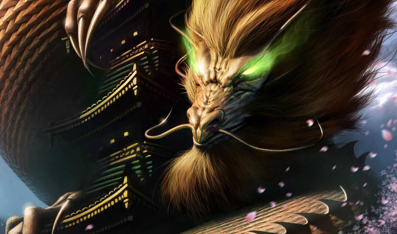 dragon, desktop, ancient, totem, steve, argyle, chinese, amazing, фэнтези,