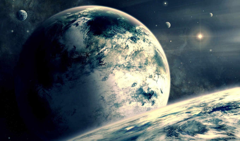 космос, планеты, облака, спутник, атмосфера, звезда, галактика, картинка, звезды, планета, картинку,