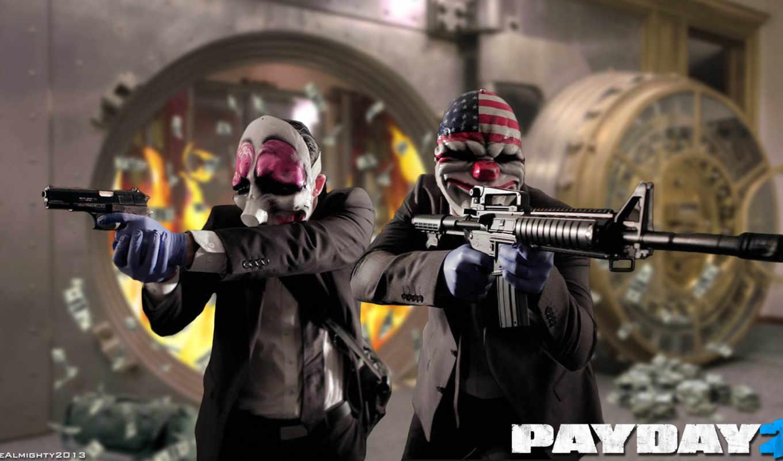 payday, overkill, софт, ограбление, картинка, amcar,