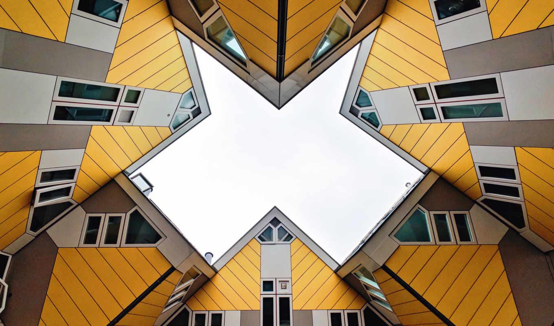 роттердам, кубик, houses, нидерланды, город,