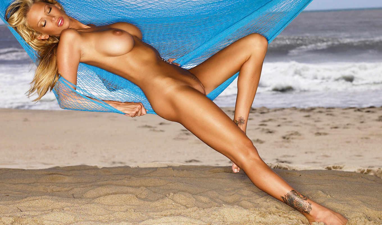 blonde, nude,