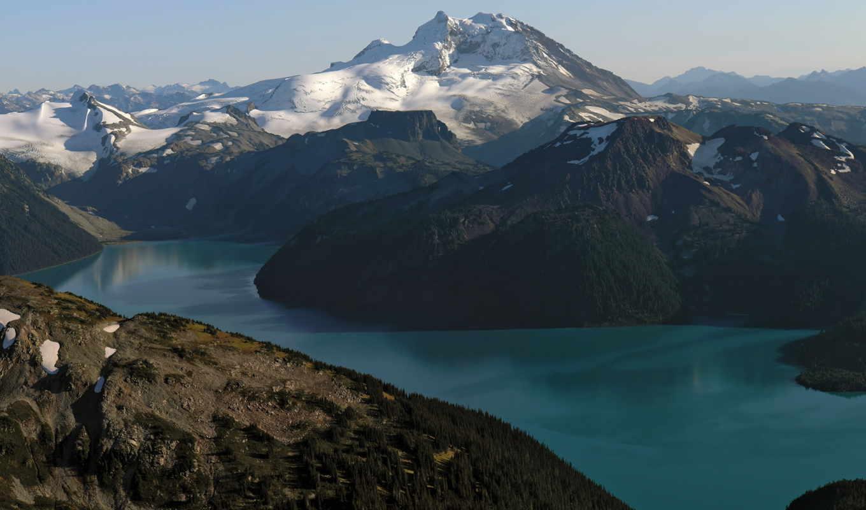 скалы, water, озеро, горы, девушек, небо, канада, красивых, подборка, гарибальди, landscape, снег,