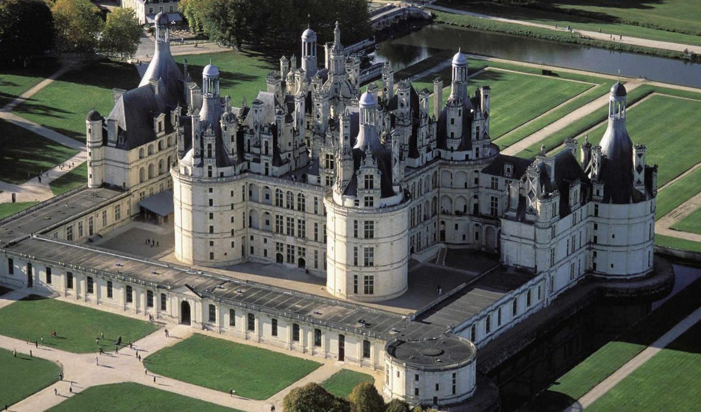 франции, замки, шамбор, является, замков, луары, одним, самых,