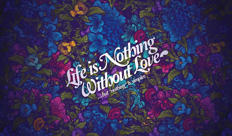 стиль, pattern, надпись, цветы, life, картинка, love,