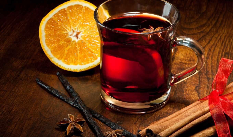 рецепт, чая, cinnamon, глинтвейн