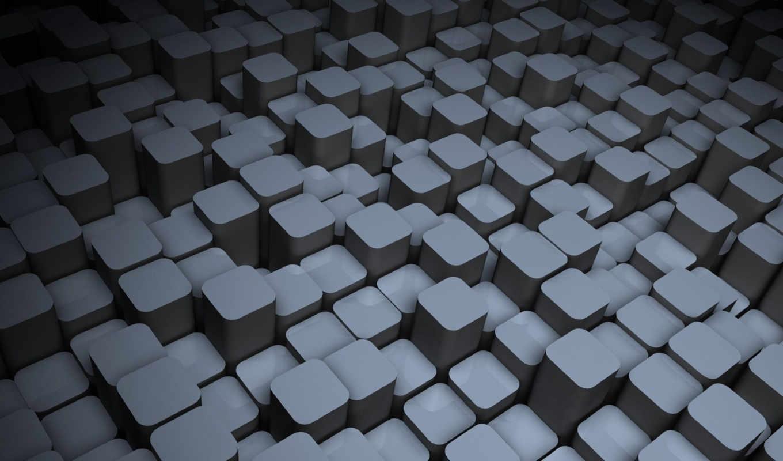 tech, широкоформатные, полноэкранные, кубики,