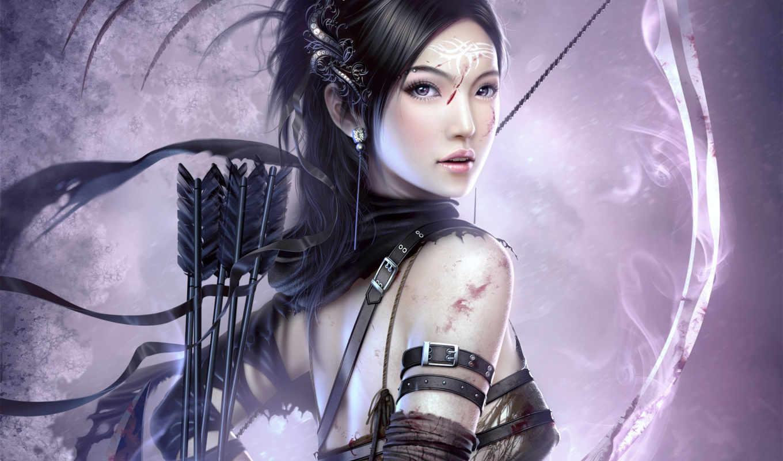 бант, девушка, стрелок, girls, fantasy,