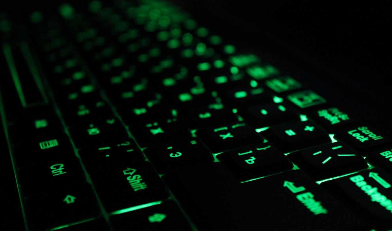 клавиатура, компьютеры, компьютер, зеленый, tech,