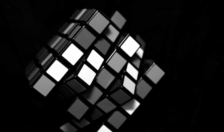 кубик, белый, рубика, черный, картинка, картинку, кнопкой, мыши,