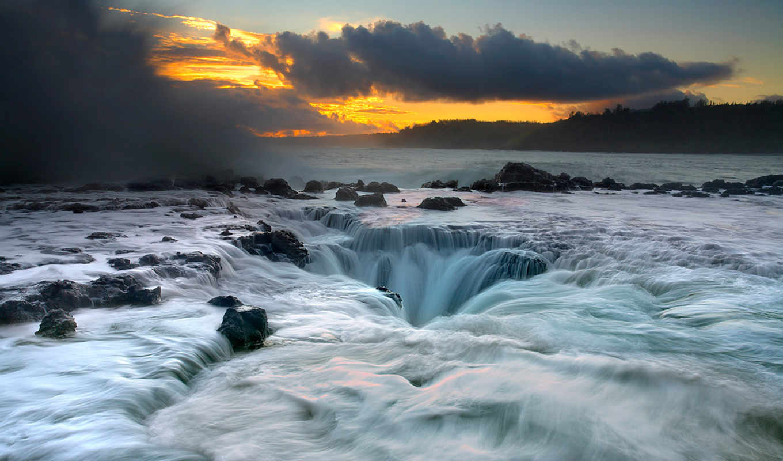 природа, water, фона, ììæøïâµäéãó, интересная, waterfall, landscapes, ocean,