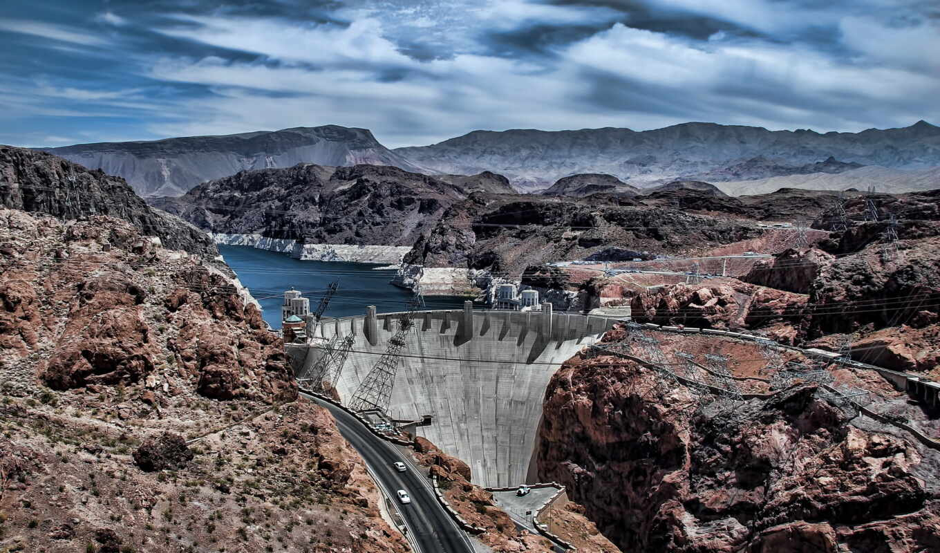 dam, категории, hoover, nevada, пейзажи -, разных, марта, colorado, arizona,