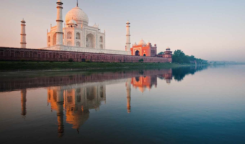 mahal, тадж, india, mosque, взгляд,