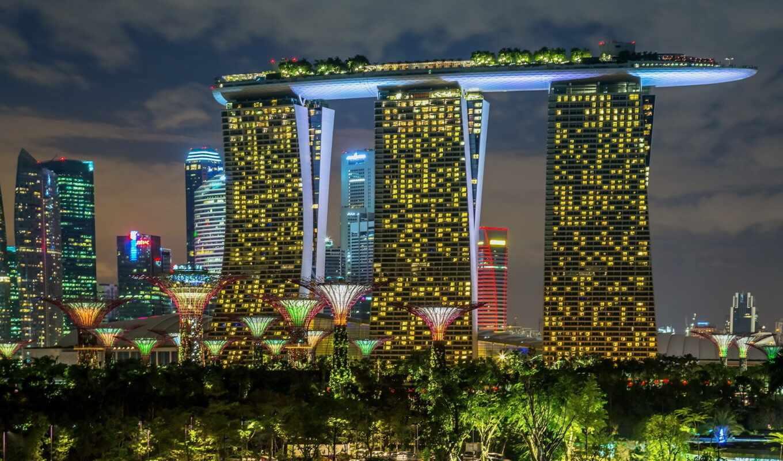 bay, garden, singapore, марина