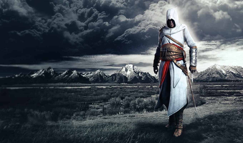 альтаир, creed, assassin, облако