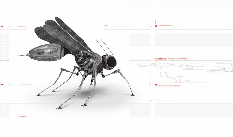 комар, робот