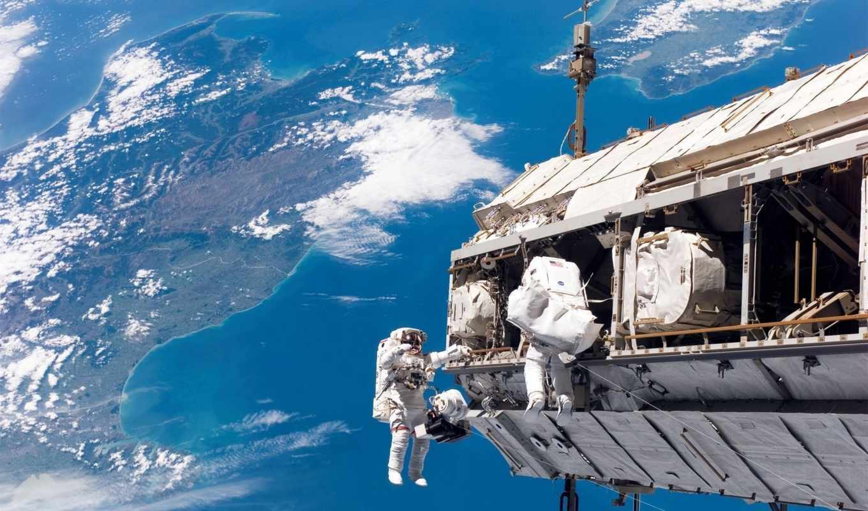 space, космонавты, astronauts, земля, мкс, station,