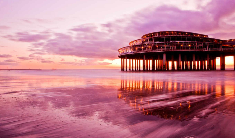 небо, море, берег, казино, пляж, картинка, картинку,