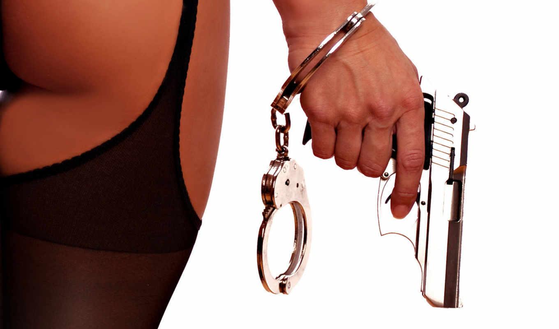 наручники, розовый, girls, foot, удивление, девушка, пистолет,