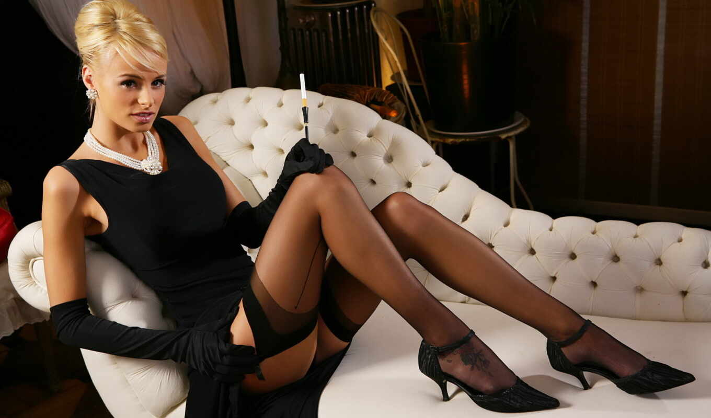 smoking, women, models, high, heels, stockings, blondes, best, brunettes, lingerie,