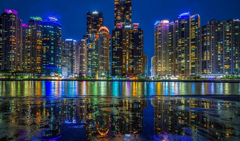 busan, ночь, город, south, bay, home, группа, education, korea, сахара, build