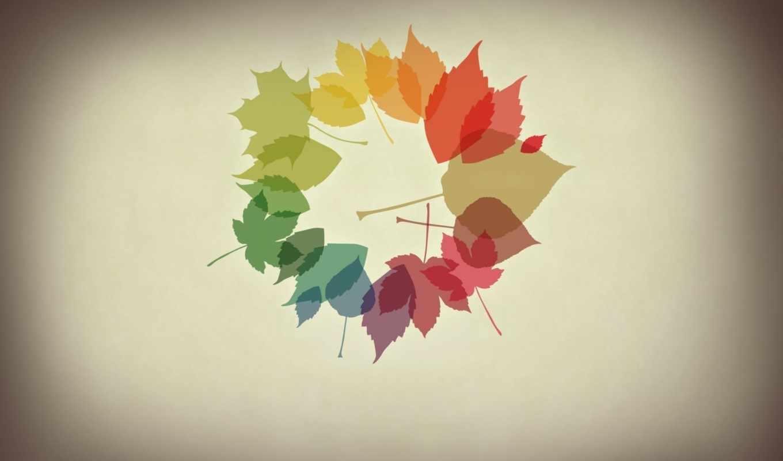 осень, листья, осенние, минимализм, wallpaper, october, desktop, картинка, colours, картинку, and,