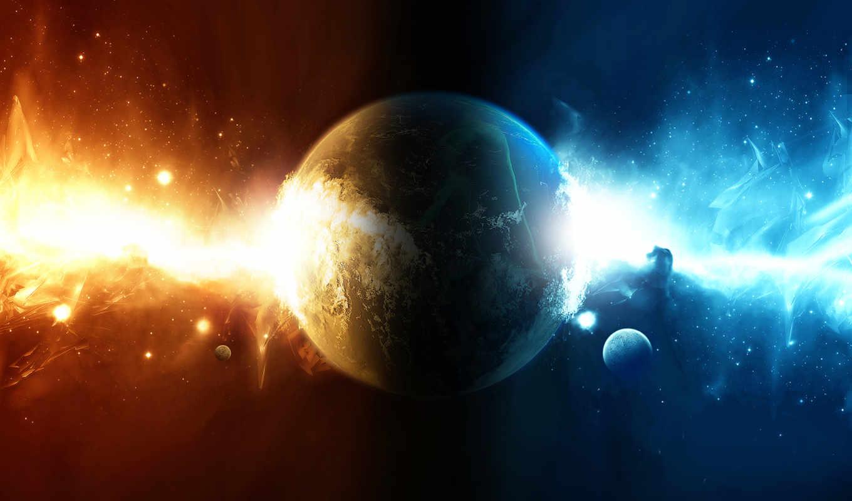 ,космос, планета,сияние,звезды,