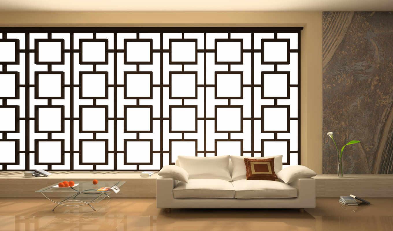 стиль, интерьер, японском, дизайн, стиле, комнаты,