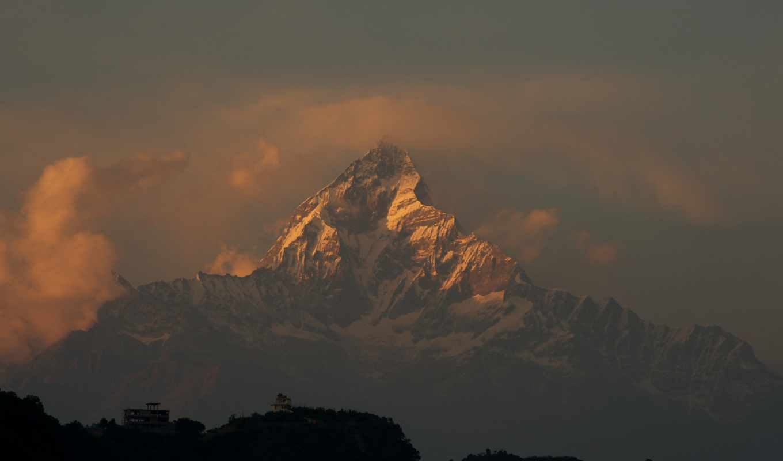 горы, гималаи, nepal, небо, гора,