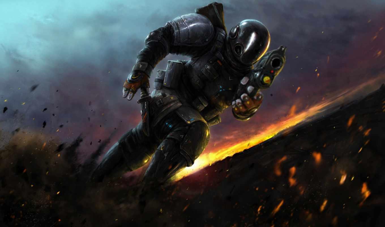 воин, оружие, доспех, масть, бомбежка, воители, осколки, run, фэнтези,