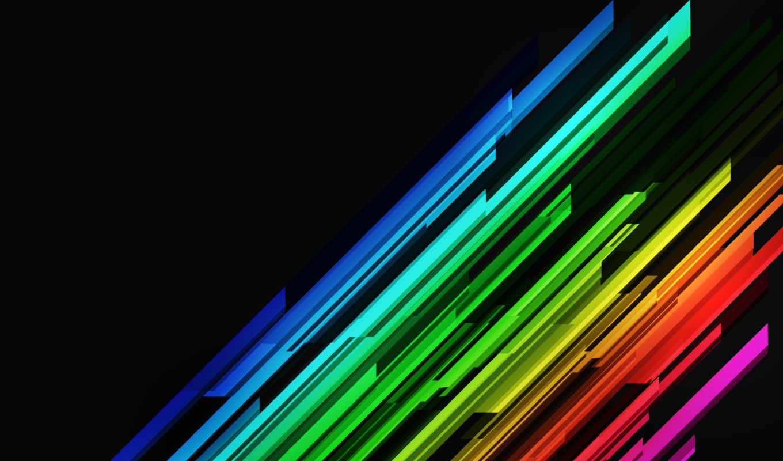 текстуры, стиль, линии, разноцветные, чёрном, фоне