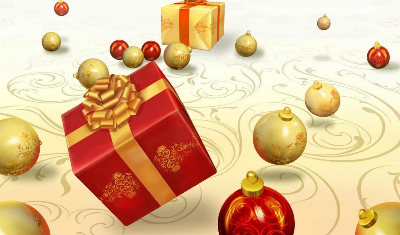 подарки, шары, год, новый, christmas, украшения, подарок, игрушки, картинка, елочные, праздники, ipad, geschenke,