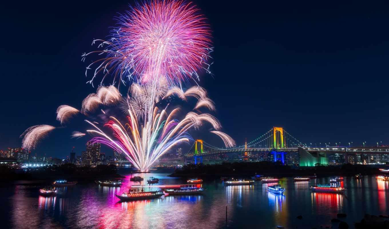 fireworks, заставки, города,