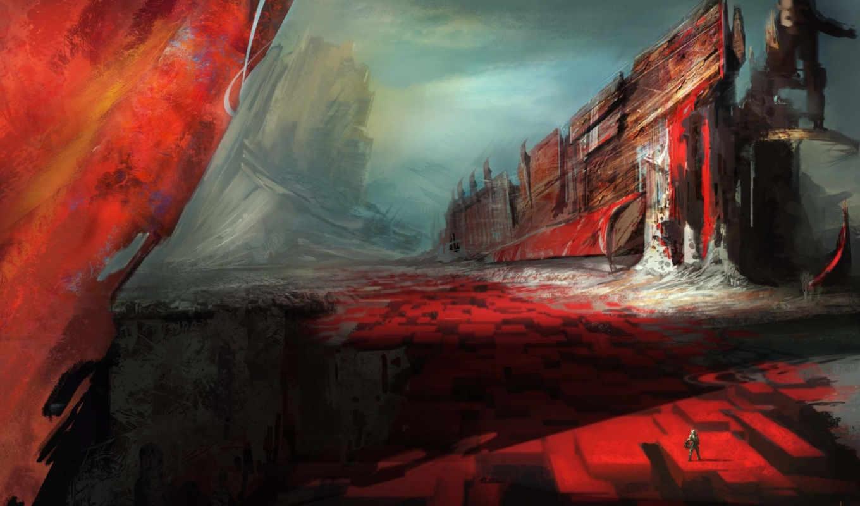 fantasy, art, ships, landscapes,