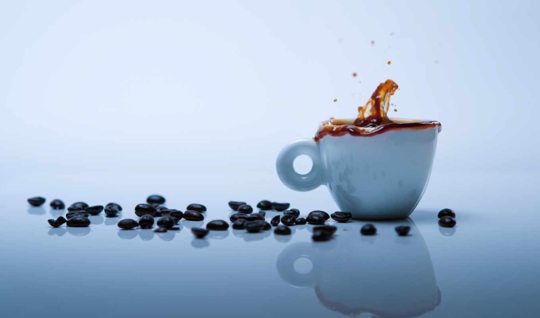кофе, чашка, зерна, bryzgi, категория, совершенно,