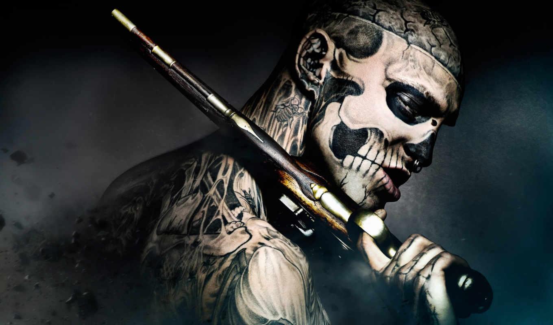 пистолет, boy, зомби,