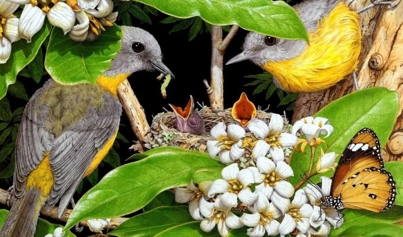 природа, рисованная, красивые, рисованной, очень, нарисованная, природы, автор,